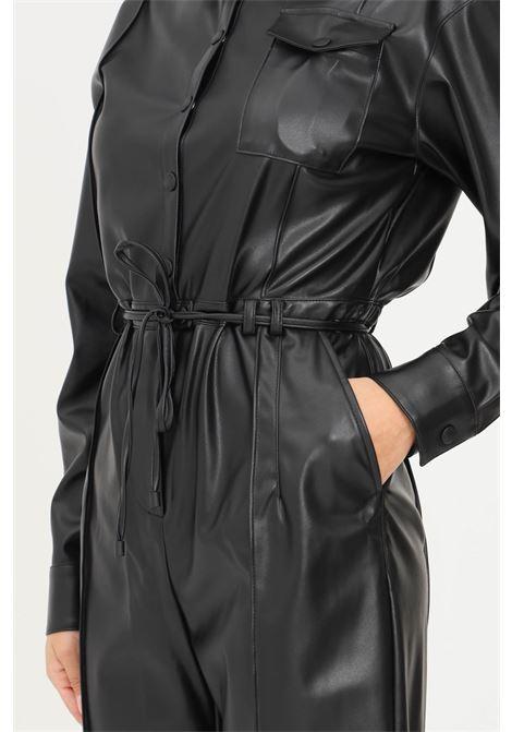 Tuta essential nero donna patrizia pepe casual in ecopelle PATRIZIA PEPE | Tute | 8L0400/A7R9K103