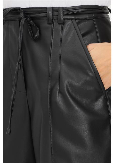 Black women's shorts by patrizia pepe eco leather model PATRIZIA PEPE | Shorts | 8L0411/A7R9K103