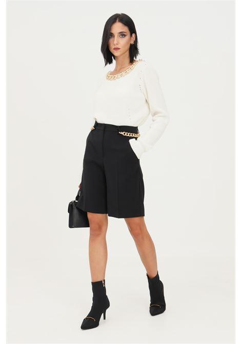 Black women's shorts by patrizia pepe, elegant model with gold application PATRIZIA PEPE | Shorts | 8P0356/A6F5K103