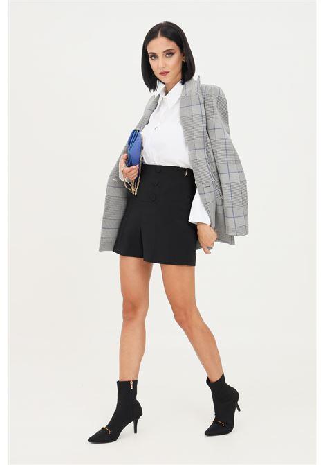 Black women's shorts by donna patrizia pepe, high waist PATRIZIA PEPE | Shorts | 8P0366/A6F5K103