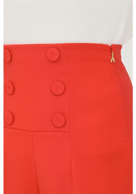 Red women's shorts by donna patrizia pepe, high waist PATRIZIA PEPE | Shorts | 8P0366/A6F5R725
