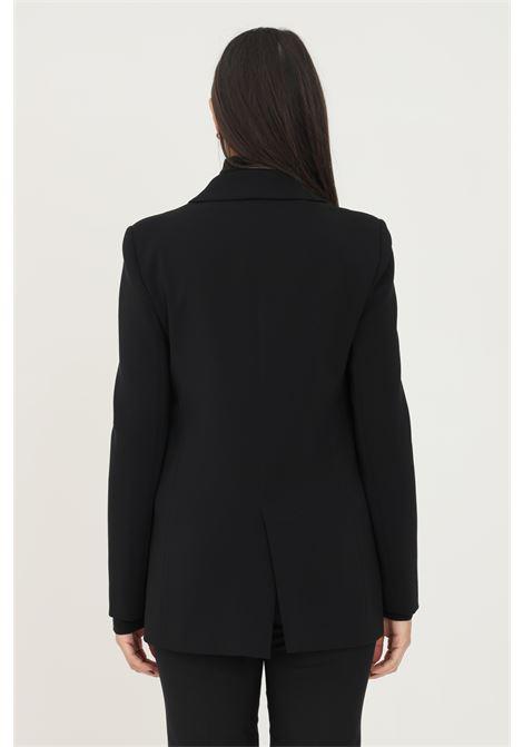 Giacca donna nero patrizia pepe con finte tasche frontali PATRIZIA PEPE | Giacche | 8S0372/A6F5K103