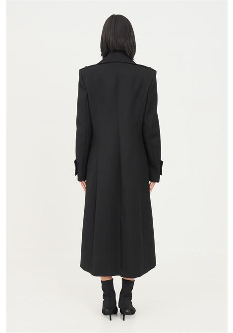 Black women's coat by patrizia pepe long cut with gold buttons PATRIZIA PEPE | Coat | 8S0384/A9F8K103