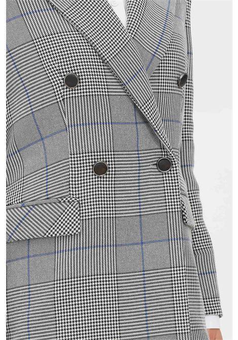 Grey women's jacket by patrizia pepe double-breasted model PATRIZIA PEPE | Blazer | 8S0385/A9K5J9P5