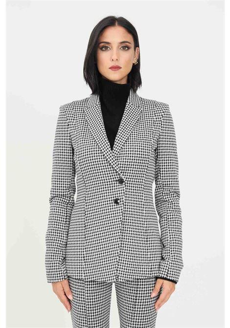 Women's jacket by patrizia pepe in pied de poul with two buttons PATRIZIA PEPE | Blazer | 8S0397/A9J9FC05