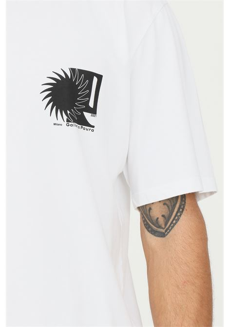 White men's t-shirt by paura with maxi print on the back PAURA   T-shirt   06DP1001ST10100WHITE