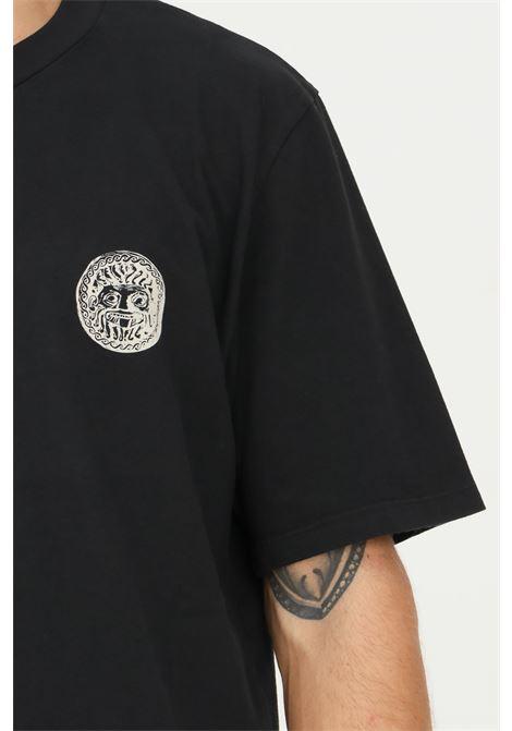 Black men's t-shirt by paura with print on the front PAURA   T-shirt   06DP1003ST01090BLACK