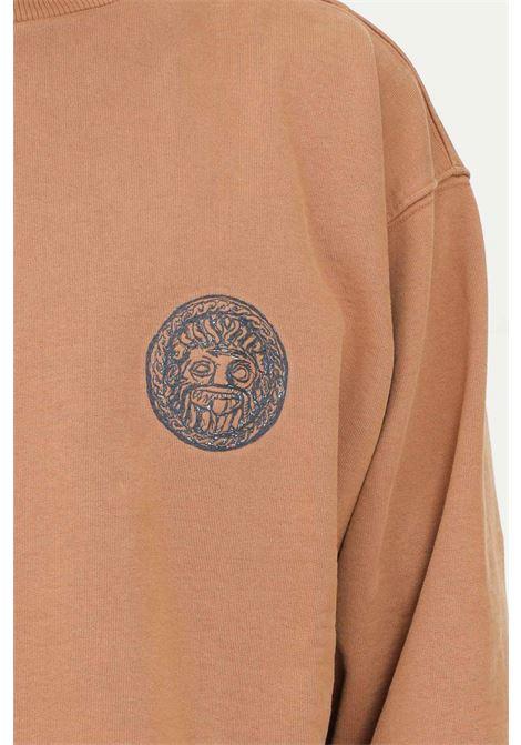 Brown men's sweatshirt by paura, over size model PAURA   Sweatshirt   06DP2016ST01725BROWN