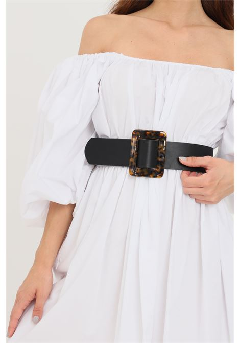 Cintura donna nero pieces con fibbia animalier PIECES | Cinture | 17099230.BLACK