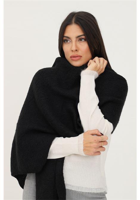 Beige women's scarf by pieces, soft effect PIECES | Scarf | 17110447BLACK-BLACK