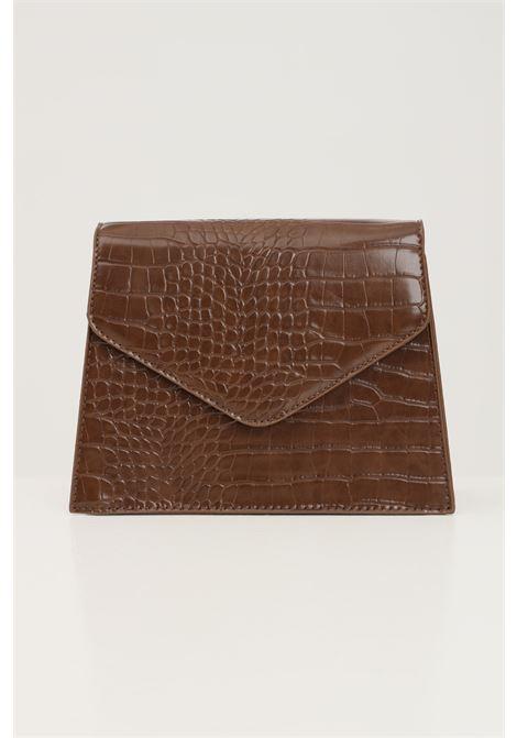 Borsa donna marrone pieces con tracolla modello in tessuto martellato PIECES   Borse   17115989OTTER