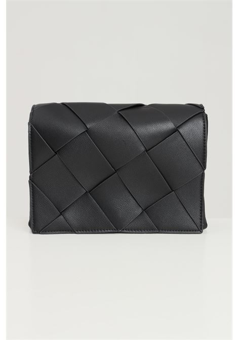 Black women's bag by pieces with crossed pattern PIECES | Bag | 17116121BLACK