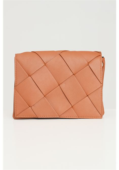 Cowhide women's bag by pieces with crossed pattern PIECES | Bag | 17116121COGNAC