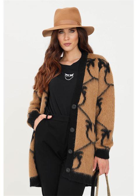Camel black women's cardigan by pinko PINKO | Cardigan | 1G16BY-Y761CZ3