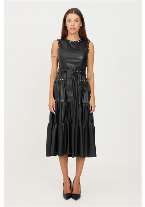 Black dress by pinko midi cut with studs application PINKO | Dress | 1G16EN-Y7CDZ99