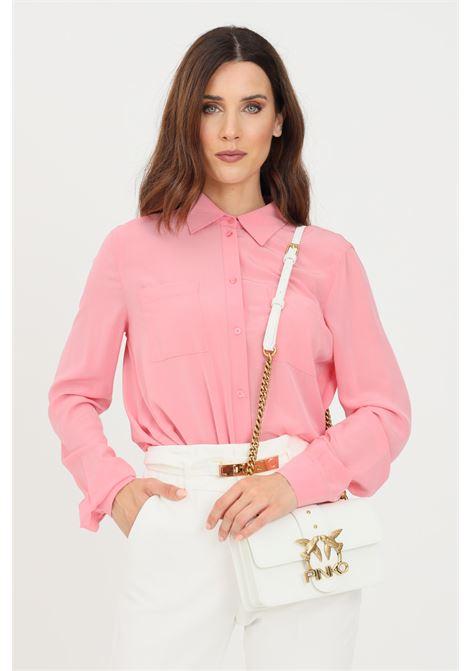 Camicia donna rosa pinko elegante PINKO | Camicie | 1G16PH-Y6ZVO97