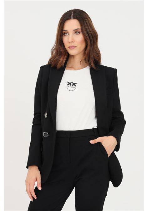 Giacca donna nero pinko taglio classico PINKO | Giacche | 1G16QB-1739Z99
