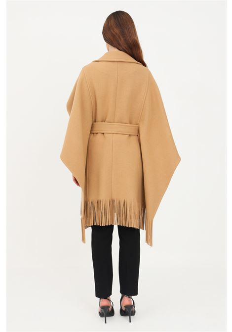 Camel women's cape with fringes by pinko PINKO |  | 1G16RY-Y7DYCAM