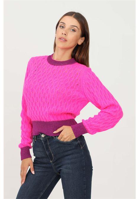 Fucshia women's sweater by pinko crew neck model PINKO | Knitwear | 1G16TU-Y7EQN95