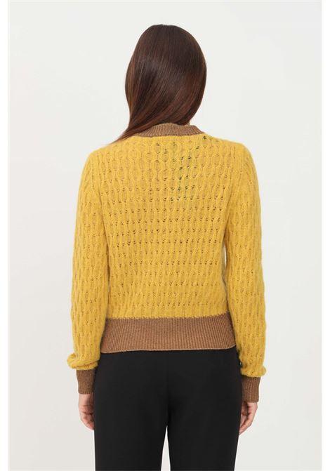 Mustard women's sweater by pinko crew neck model PINKO | Knitwear | 1G16TU-Y7EQT63