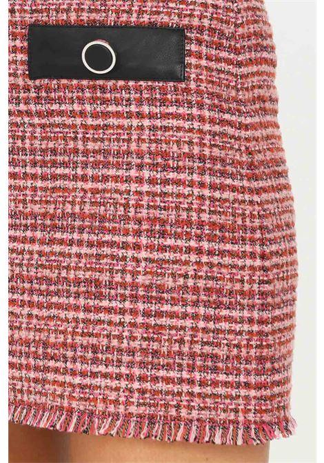 Gonna corta donna rosa pinko con applicazione bottoni sul davanti PINKO | Gonne | 1G16V3-8571YN3