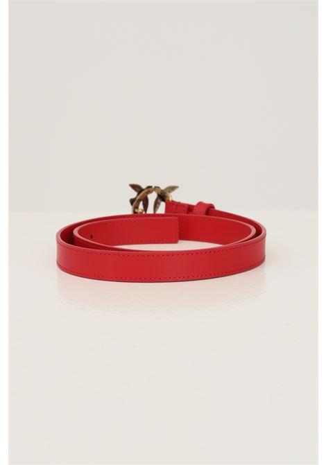 Red women's belt by pinko con with logo buckle PINKO | Belt | 1H20X8-Y6XTR43