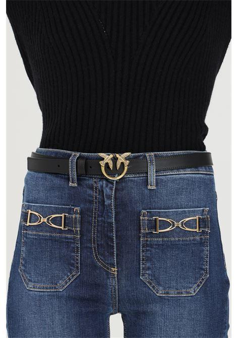 Cintura donna nero pinko con fibbia logo PINKO | Cinture | 1H20X8-Y6XTZ99