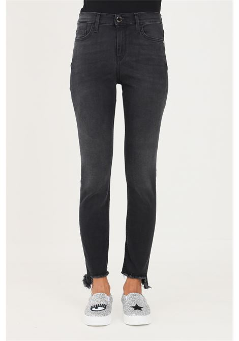 Black women's jeans by pinko with paillettes on the back PINKO | Jeans | 1J10NW-Y78PZ99