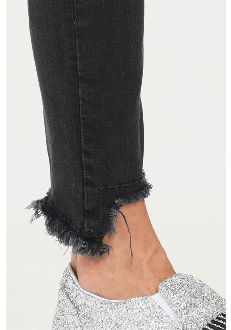 Black women's jeans by pinko with paillettes on the back PINKO   Jeans   1J10NW-Y78PZ99