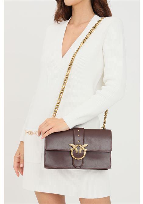 Bordeaux women's love classic icon bag with shoulder strap pinko PINKO | Bag | 1P22A6-Y6XTR64