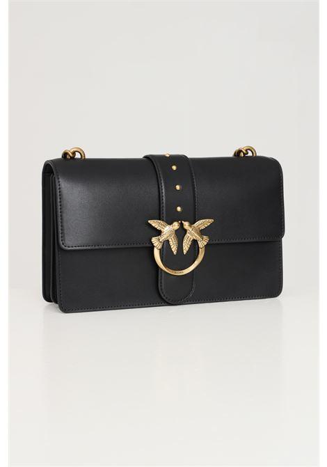 Black women's love classic icon bag with shoulder strap pinko PINKO | Bag | 1P22A6-Y6XTZ99
