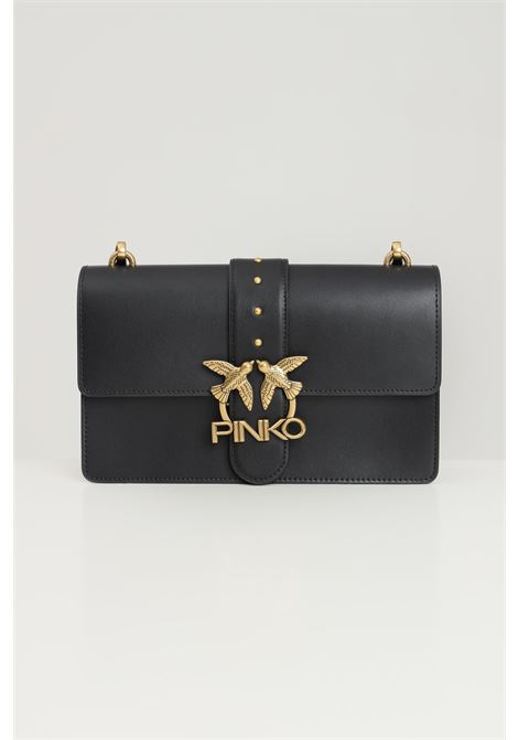 Black women's love classic icon bag with shoulder strap pinko PINKO | Bag | 1P22A9-Y6XTZ99