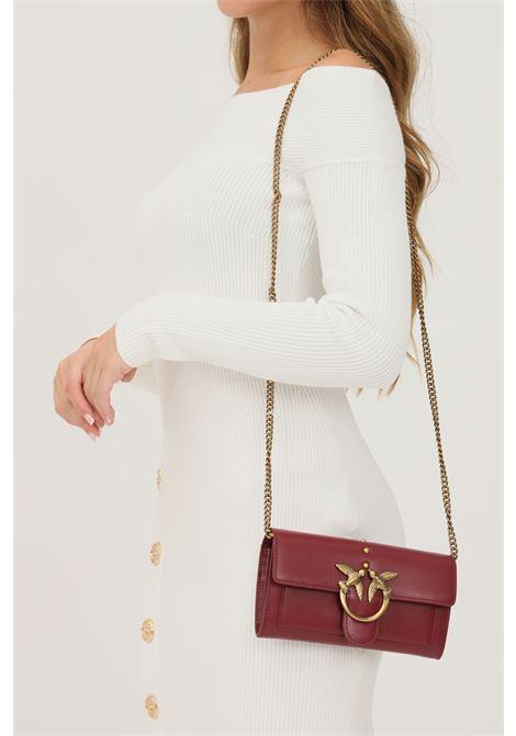 Pochette donna bordeaux pinko con fibbia oro PINKO | Borse | 1P22AM-Y6XTR44