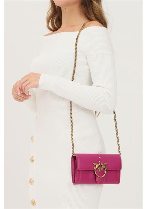 Pochette donna fucsia pinko con fibbia oro PINKO   Borse   1P22AM-Y6XTW48