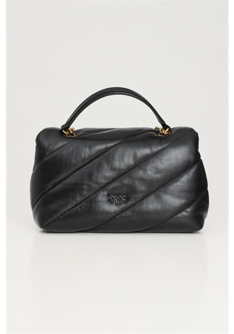 Black women's classic puff quilt bag with shoulder strap pinko PINKO | Bag | 1P22AY-Y6Y3Z99