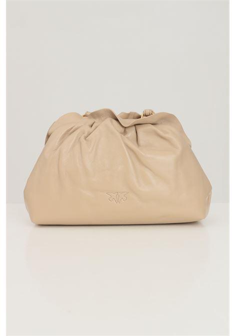 Mini clutch donna beige pinko con volant PINKO | Borse | 1P22BG-Y7FQC61