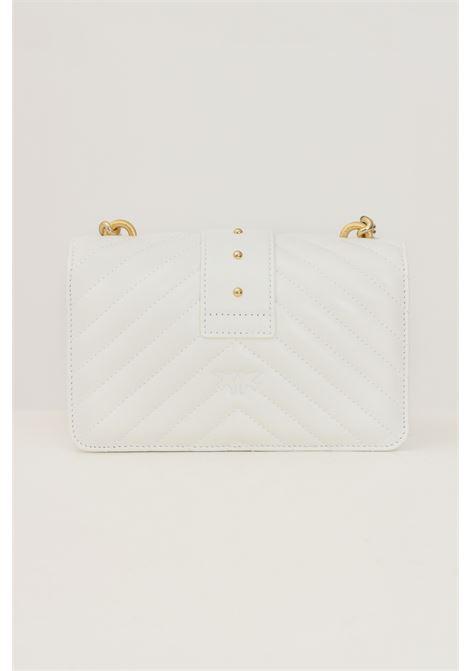 Borsa donna bianco pinko con tracolla lavorazione trapuntata PINKO   Borse   1P22BW-Y7FYZ14