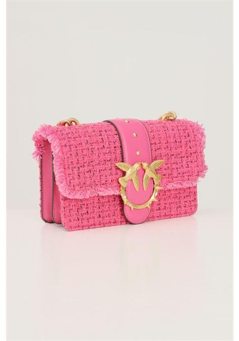 Pink women's bag by pinko, braid model with shoulder strap PINKO | Bag | 1P22CV-Y7G9NJ7