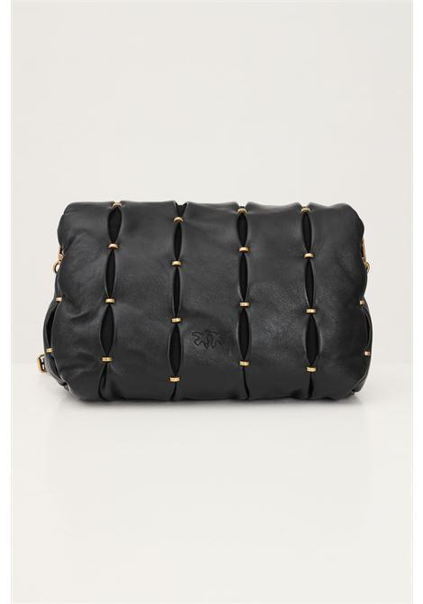 Borsa love puff donna nero pinko in nappa con borchie pizzicate PINKO | Borse | 1P22E6-Y7HXZ99