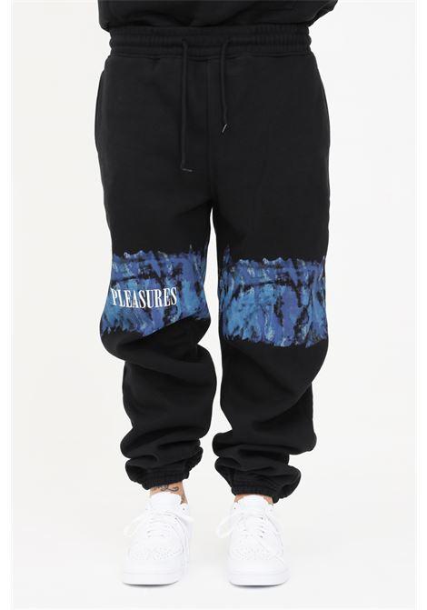 Pantaloni uomo nero pleasures casual con stampa acquarello PLEASURES | Pantaloni | P21SU009BLACK