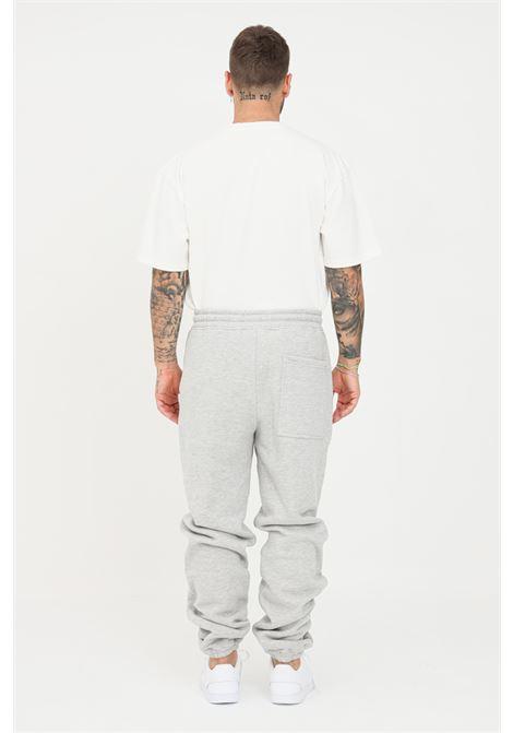 Pantaloni uomo grigio pleasures casual con applicazione arcobaleno PLEASURES | Pantaloni | P21SU013HEATHER GREY
