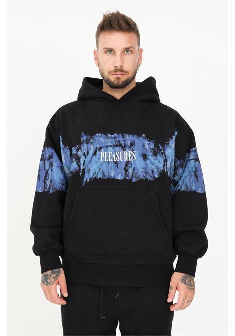 Black men's hoodie by pleasures with watercolor print PLEASURES | Sweatshirt | P21SU026BLACK