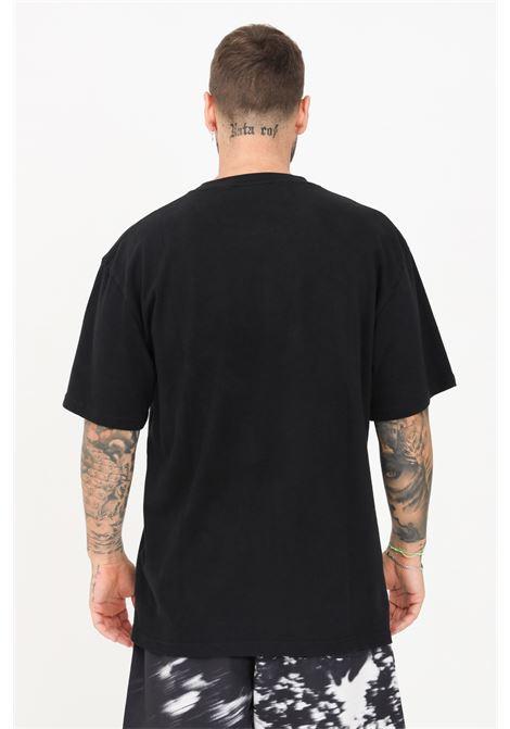 T-shirt uomo nero pleasures a manica corta con logo ricamato al collo PLEASURES | T-shirt | P21SU028BLACK