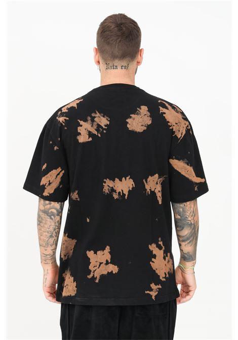 T-shirt uomo nero pleasures a manica corta effetto painting PLEASURES | T-shirt | P21SU038BLACK