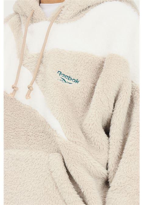 Felpa con cappuccio classics vector sherpa donna beige REEBOK | Felpe | GS9119.