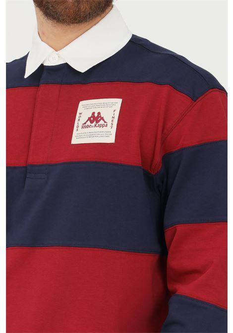 Polo uomo blu rosso robe di kappa a manica lunga RObe di kappa | Polo | 62118VWA04