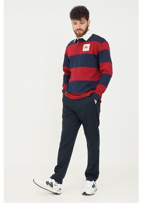 Pantaloni uomo blu robe di kappa modello casual con fibbia in vita RObe di kappa | Pantaloni | 63111FW193
