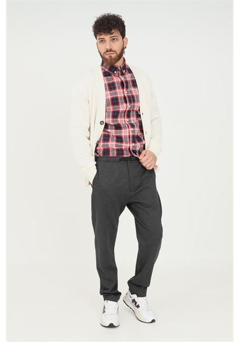 Pantaloni uomo grigio robe di kappa modello casual con fibbia in vita RObe di kappa | Pantaloni | 63111FWD13