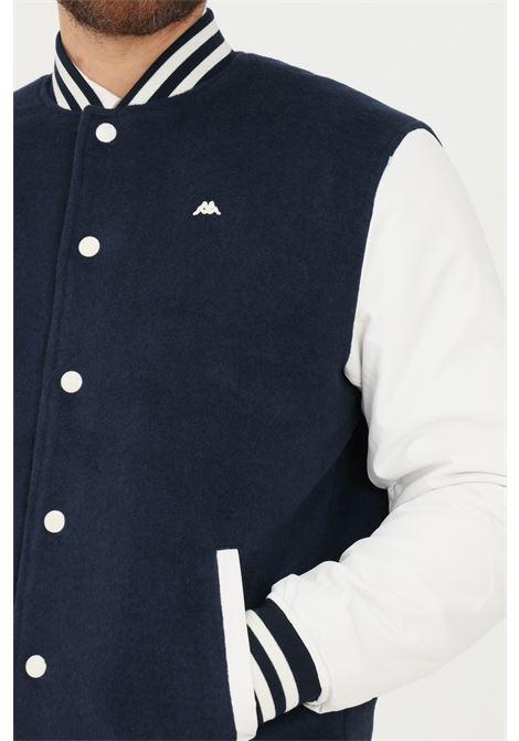 Giubbotto uomo blu robe di kappa con bottoni a pressione RObe di kappa | Giubbotti | 63118HW193