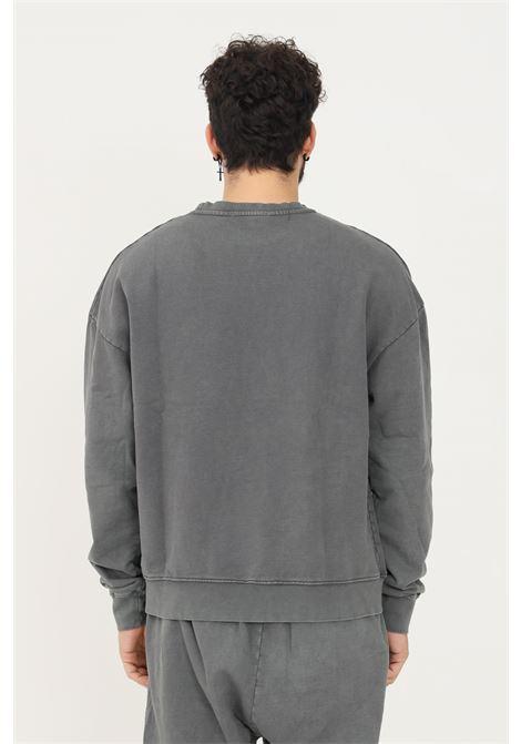 Grey men's sweatshirt by romance, crew neck model with embroidered logo on the front ROMANCE | Sweatshirt | R03006FEC1150